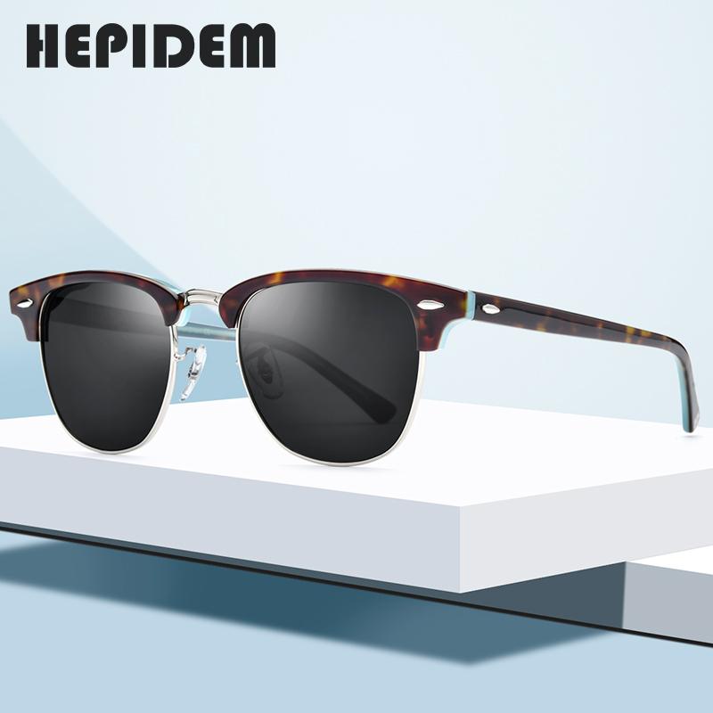 Hepidem round color plate Polarized Sunglasses for mens net