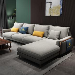 北欧布艺沙发客厅小户型轻奢整装组合简约现代可拆洗三人新款家具图片