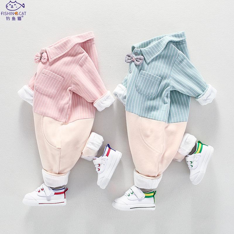 新生婴儿连体衣服春秋长袖0-1岁男女宝宝纯棉初生婴儿秋冬装外出
