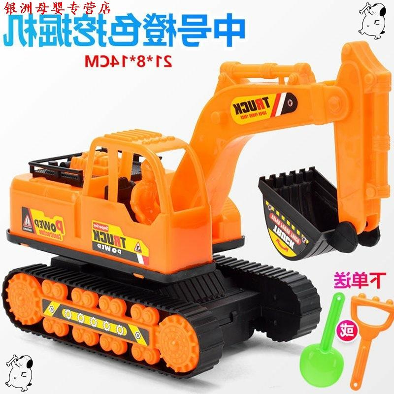 翻斗车工地 建筑工程挖掘机玩具惯性挖掘机玩具翻斗车搅拌车垃圾