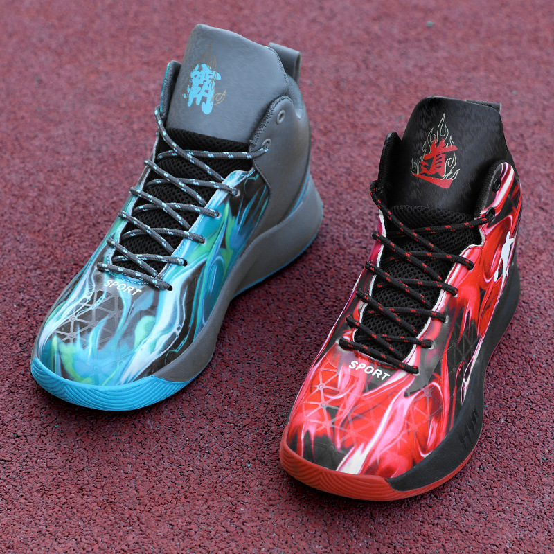 Genuine Yian stepping snow 2020 new large mandarin duck basketball shoes youth sports shoes anti slip and wear resistant