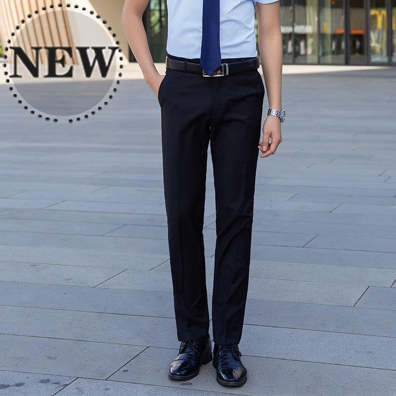 Summer mens trousers mens business black suit pants mens slim casual trousers mens straight m formal trousers