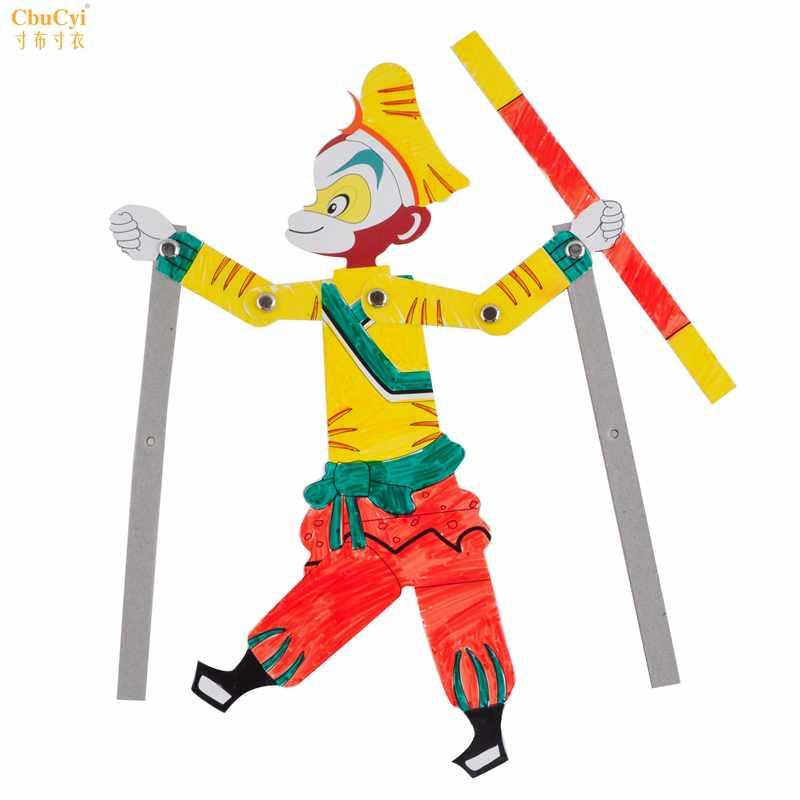儿童皮影戏手工材料包特色民族传统手工艺品 幼儿园diy涂色材