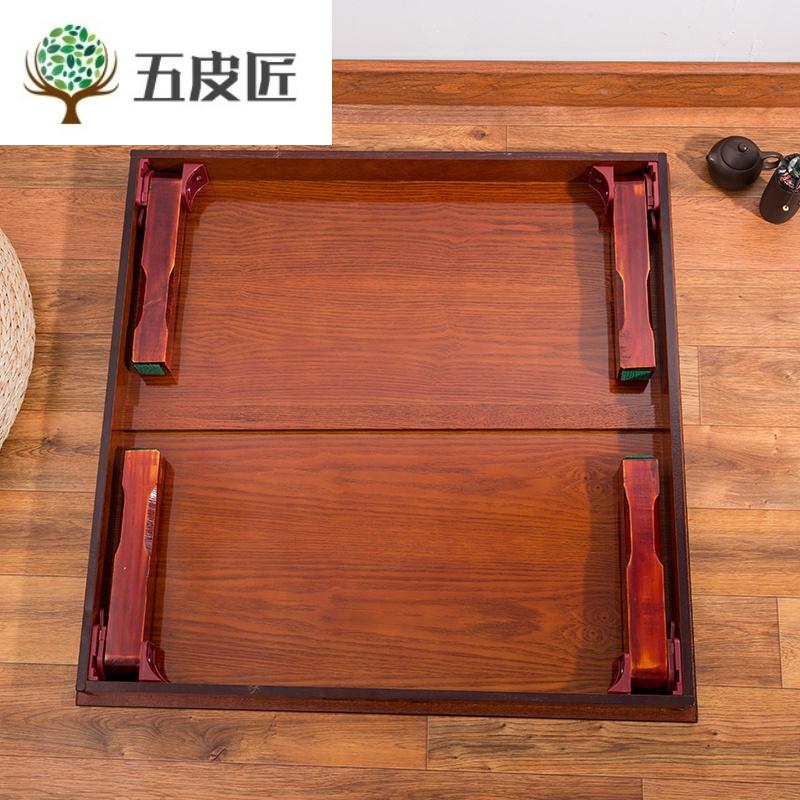 韩式炕桌朝鲜族饭桌餐桌折叠桌方桌韩国圆桌日式矮桌榻榻米飘窗桌