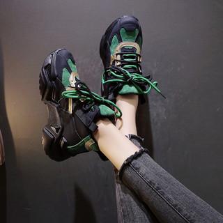 老爹鞋女2020秋冬新款欧洲站女鞋网红百搭厚底休闲黑色秋季运动鞋