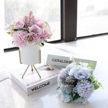 Скандинавские дома сушеные цветы искусственные цветы искусственные цветы гостиной журнальный столик украшения украшения букет цветов помещены цветочные украшения