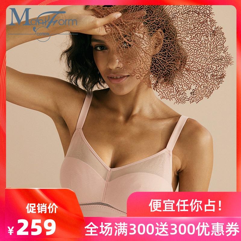 限100000张券曼妮芬棉质生活全罩杯无钢圈宽文胸