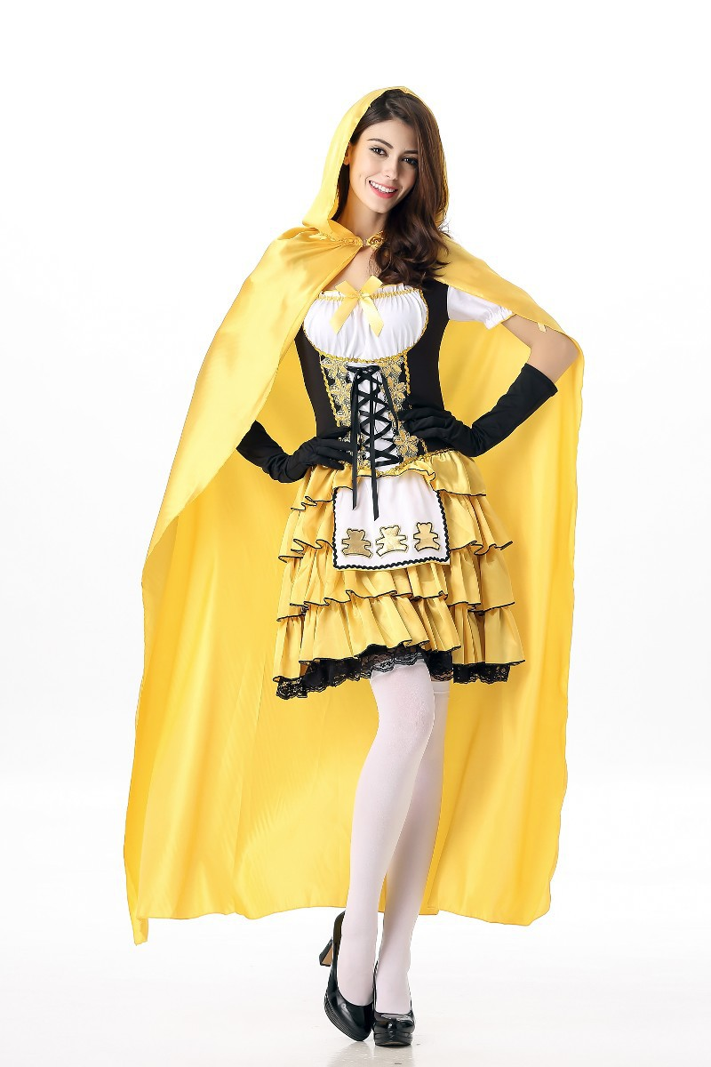 Costume show maid Halloween Disney Snow White Dress Cape Little Red Riding Hood
