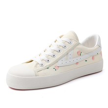 Huili women's shoe ow co named Cherry Blossom exploding shoes peaches ripe strawberries all kinds of fashion shoes small white hand-painted canvas shoes