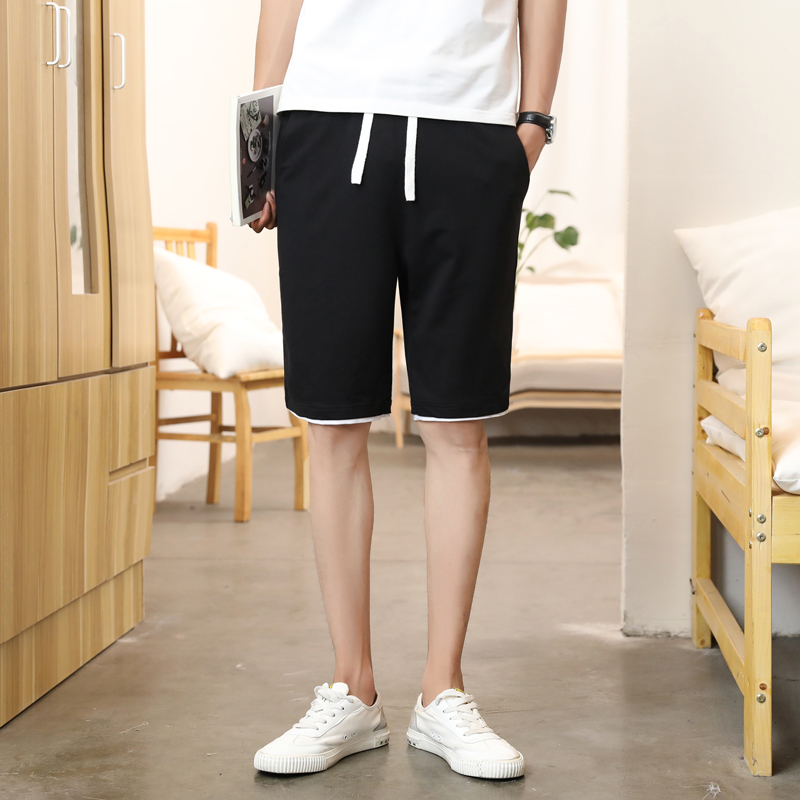 Mens Summer Shorts casual Capris fashion brand thin Pants Capris slim pants versatile beach pants handsome