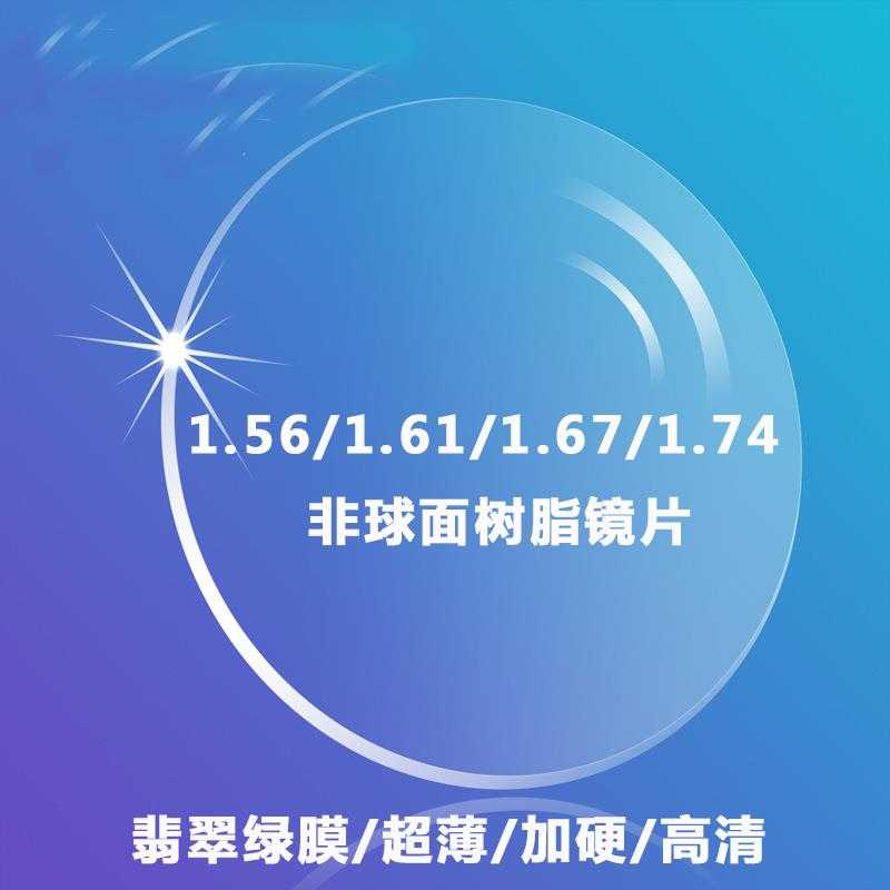 The aspheric anti radiation and anti blue color changing lens for myopia lenses 1.73/1.74