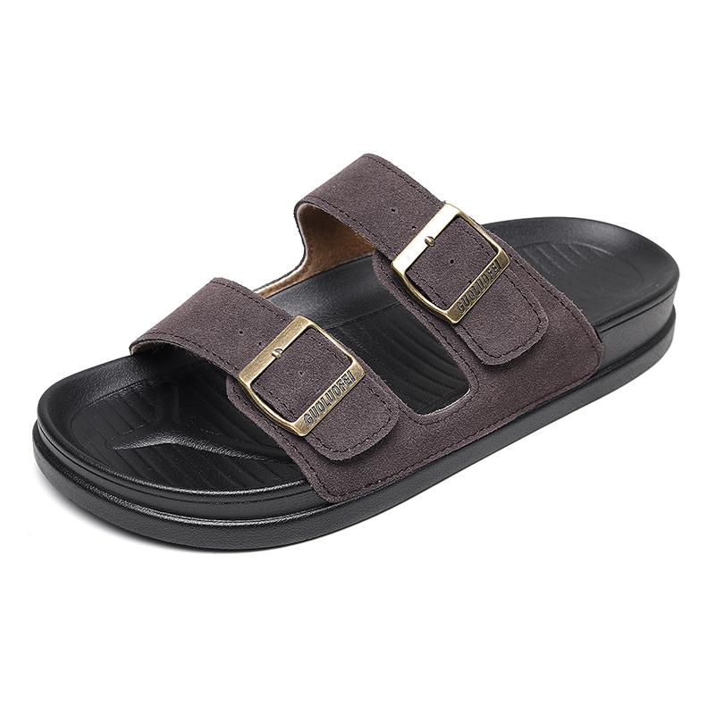 Slippers mens summer 2021 new Korean Trend cork slippers anti slip sandals fashion versatile beach slippers