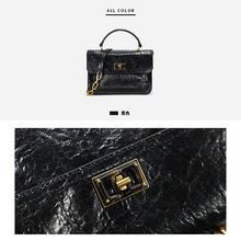 Small ck2019 new women's handbag autumn and winter chain One Shoulder Messenger hand limited flip fold tramp wave