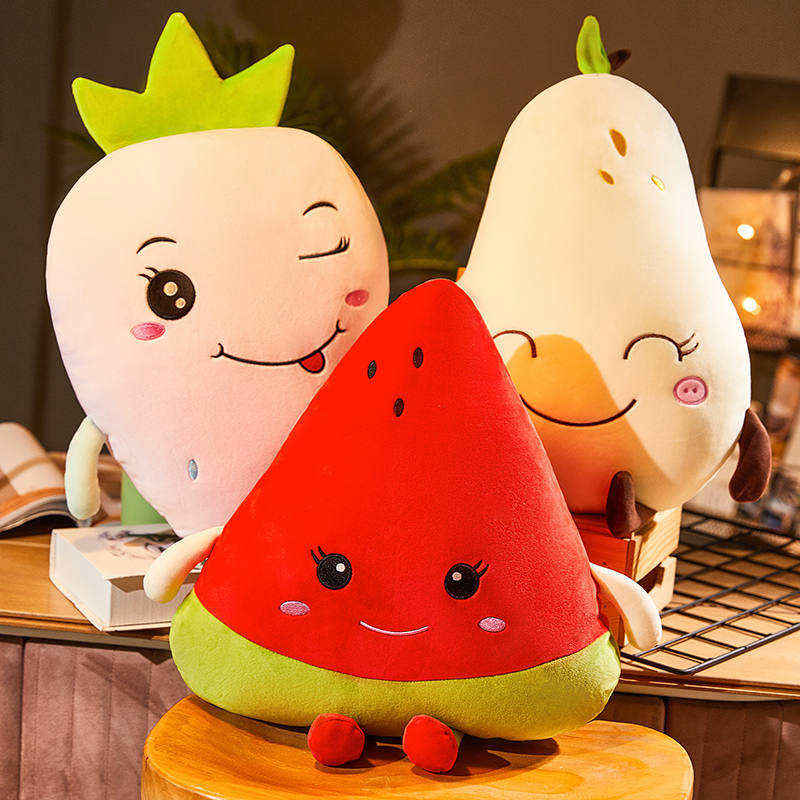 中國代購 中國批發-ibuy99 毛绒玩具 ins网红可爱水果睡觉抱枕女生草莓玩偶毛绒玩具西瓜娃娃床上超软