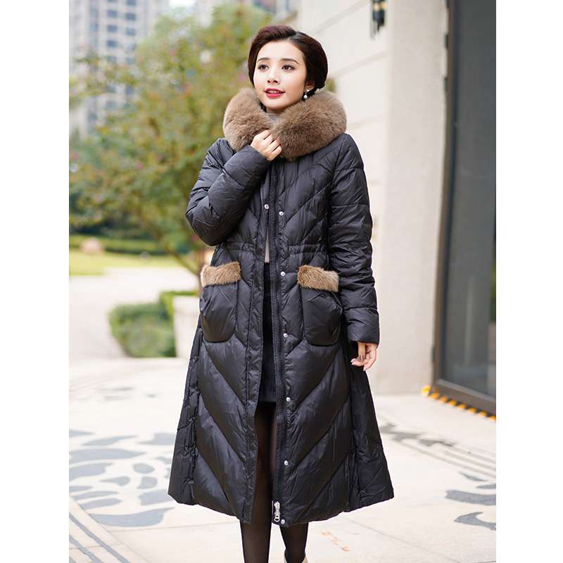 Middle aged and elderly women with cotton padded clothes, middle-aged mothers, autumn and winter coats, cotton padded jacket, down jacket, 2019 new womens middle and long clothes