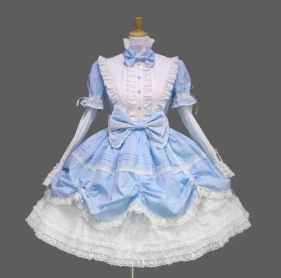 Christmas New Years Day Lolita Dress Gothic pink Lolita daily dress show cos dress