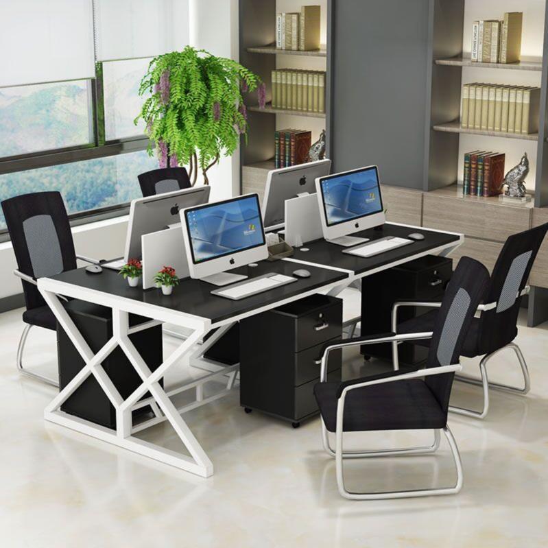 财务办公家具组合简约现代电脑办公室双人商业大班桌多人简易桌多