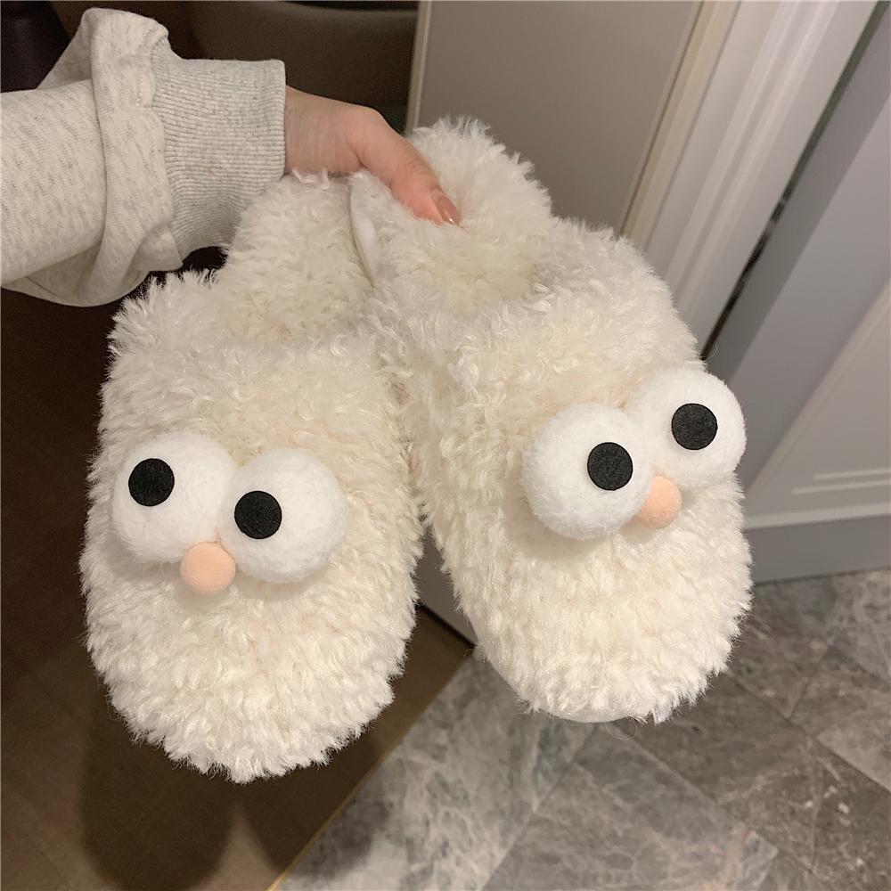冬季居家可爱毛毛韩版室内防滑拖鞋好用吗
