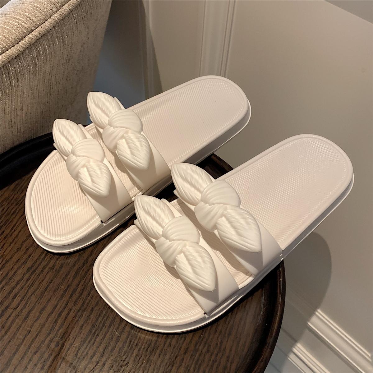 凉拖鞋女夏网红ins仙女风平底室内居家用时尚蝴蝶结沙滩拖鞋防滑