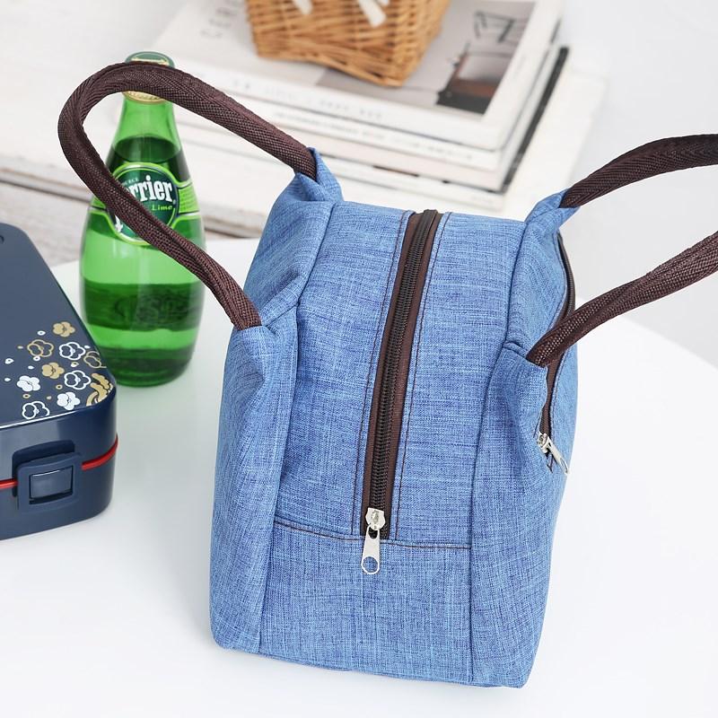 袋子打工大妈布袋装帆布包小布帆布便当包手袋手机包印花防水小众