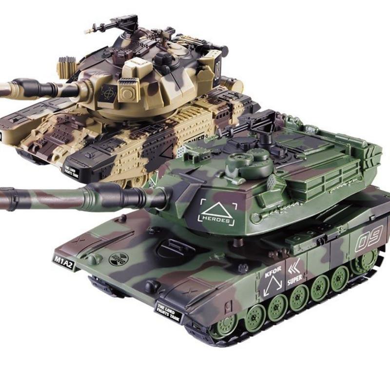 野大号充电可发射水弹遥控坦克可发水弹开炮对战履带式儿童玩具越