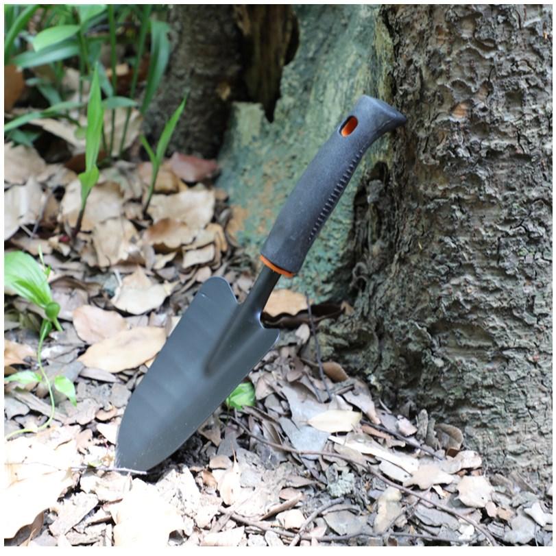 日本黑铁铲 园艺用品 园林小铲子 种花松土工具 园林小工具。