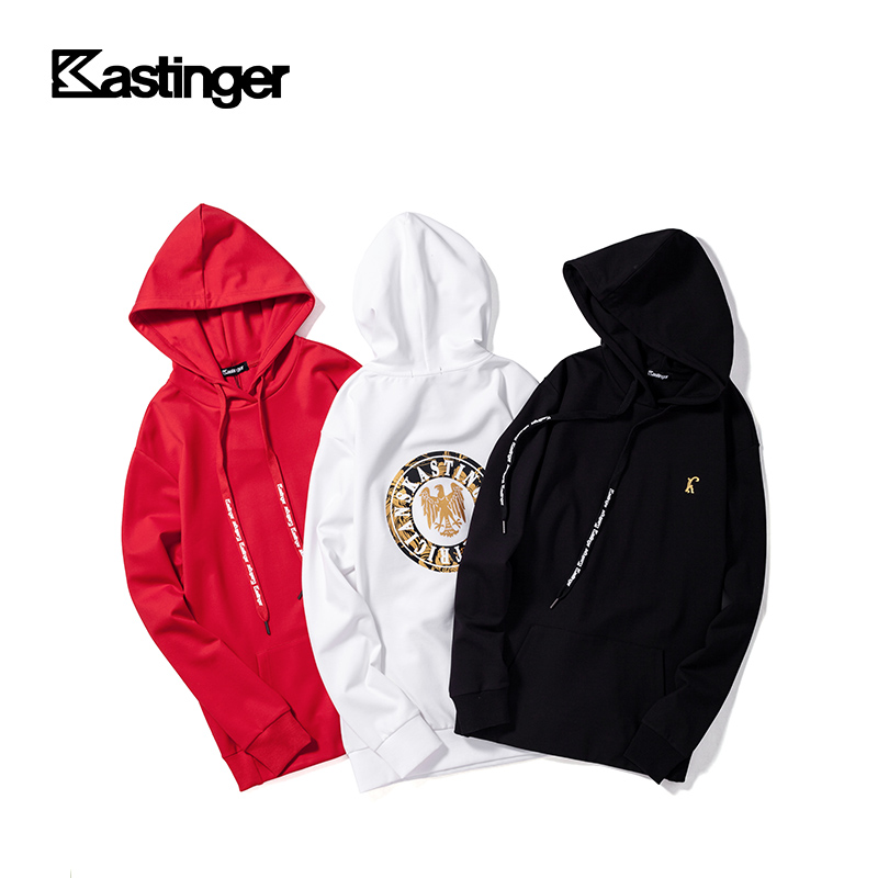 Kastinger sweater 2020 spring new loose fitting hooded blouse round neck printed lovers long sleeve top