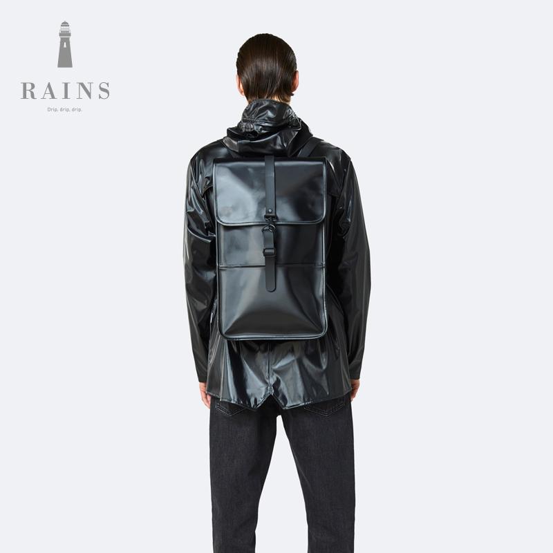 Rains Backpack防水旅行双肩包男女书包轻便运动包15寸电脑包背包