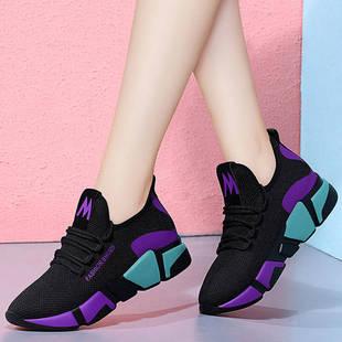 27春季韓版時尚百搭女鞋跑步運動鞋網紅輕便休閑鞋防滑軟底單鞋