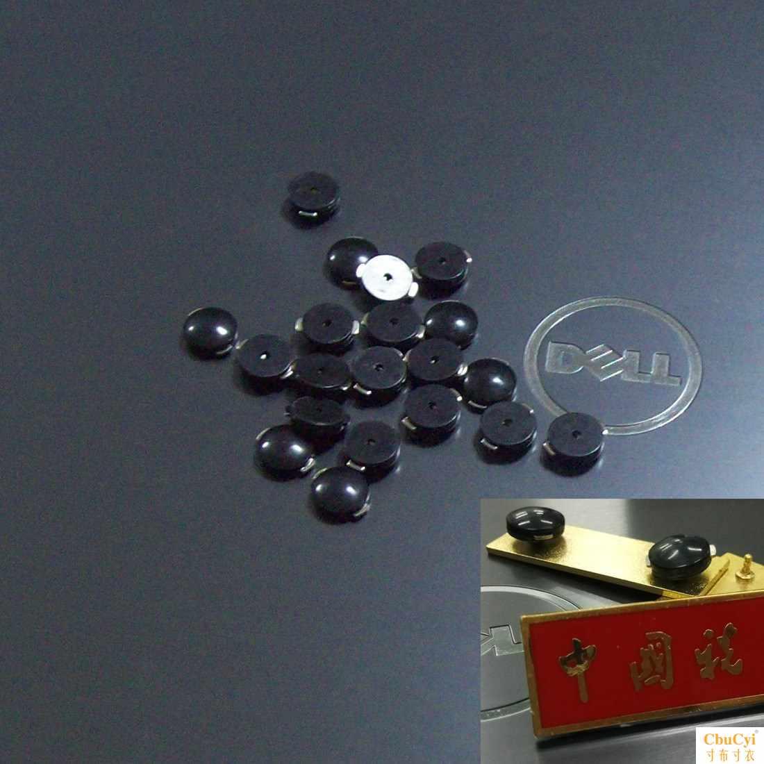 税务胸章新式胸徽标准金属硬胸牌魔术贴软胸牌纽扣黑色卡扣现货