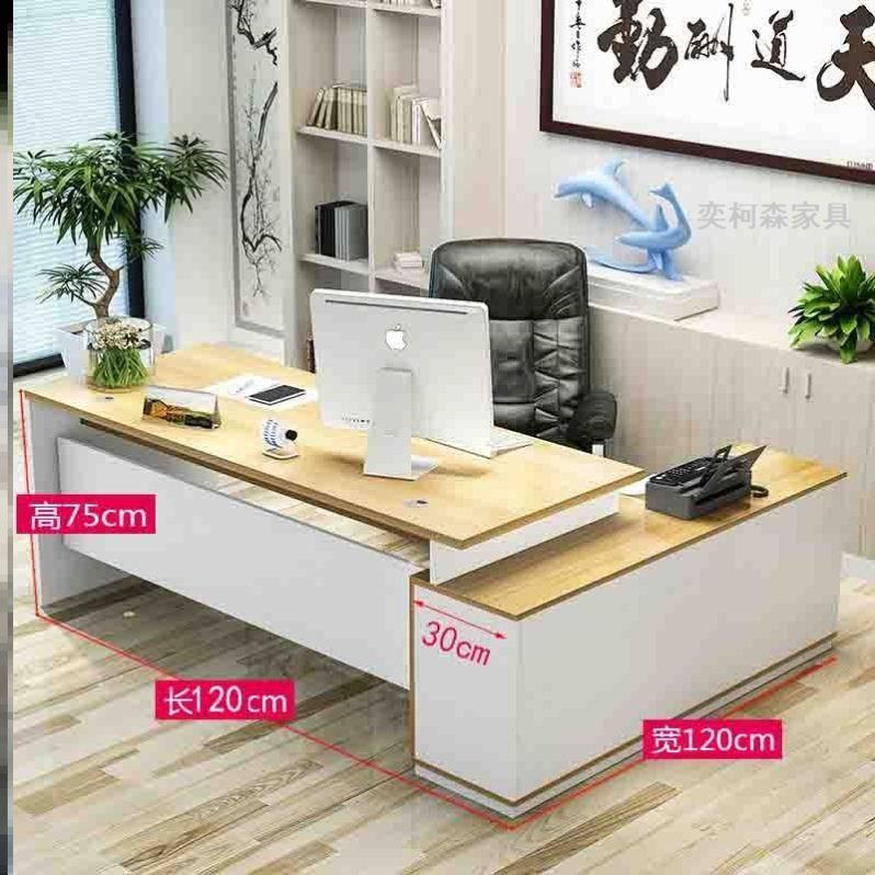 オフィスデスクの簡単な上司の大きいクラスのコンピュータのテーブルの黒色のテーブルと椅子のファッション。