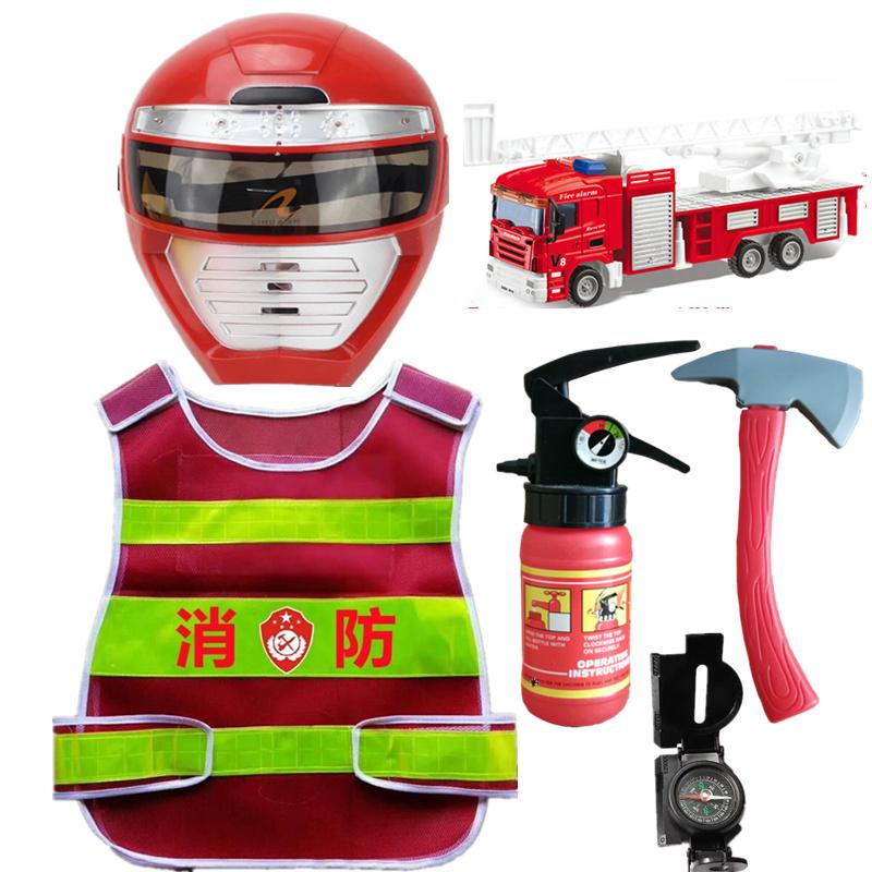 Childrens fire toys fireman suit kindergarten role play props clothing vest fire hat clothes