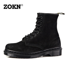 Zokn Summer Grinding 1460 Martin Boots Female Breathable British Shoes Couple Shoes Black Locomotive Boots Male