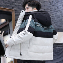 2019 new cotton men's coat Korean version winter thickened down cotton clothing tooling couple cotton padded jacket tide brand
