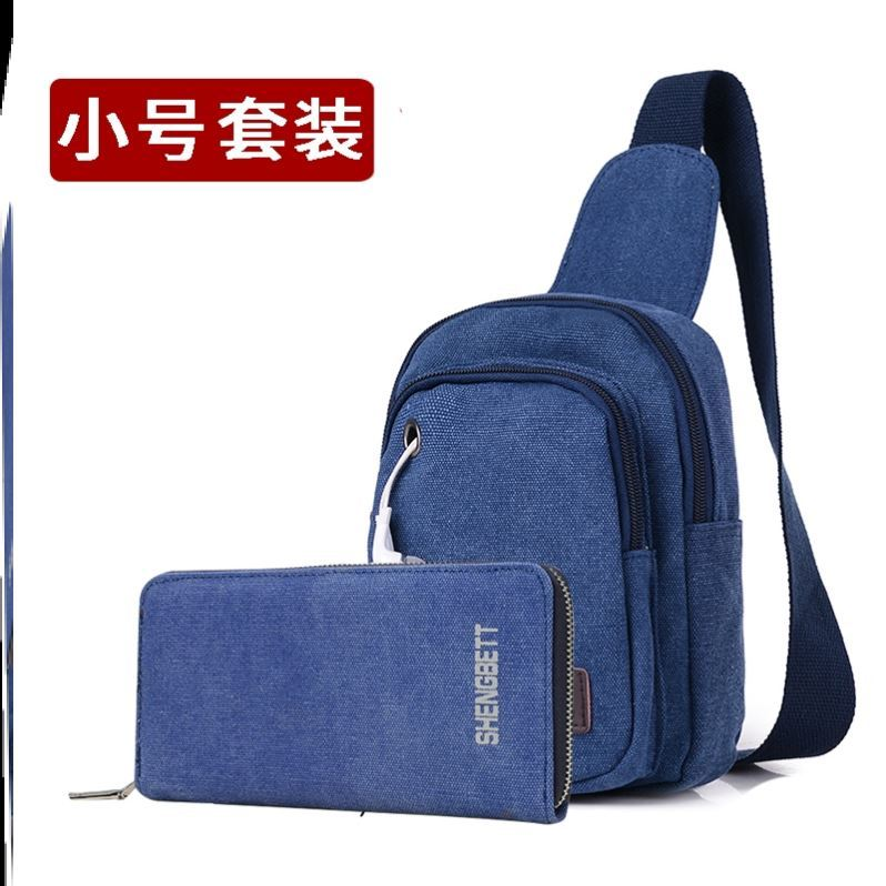Spring backpack dad Mini dual purpose mens chest bag leisure crossbar college students mens hand hold fashion diagonal