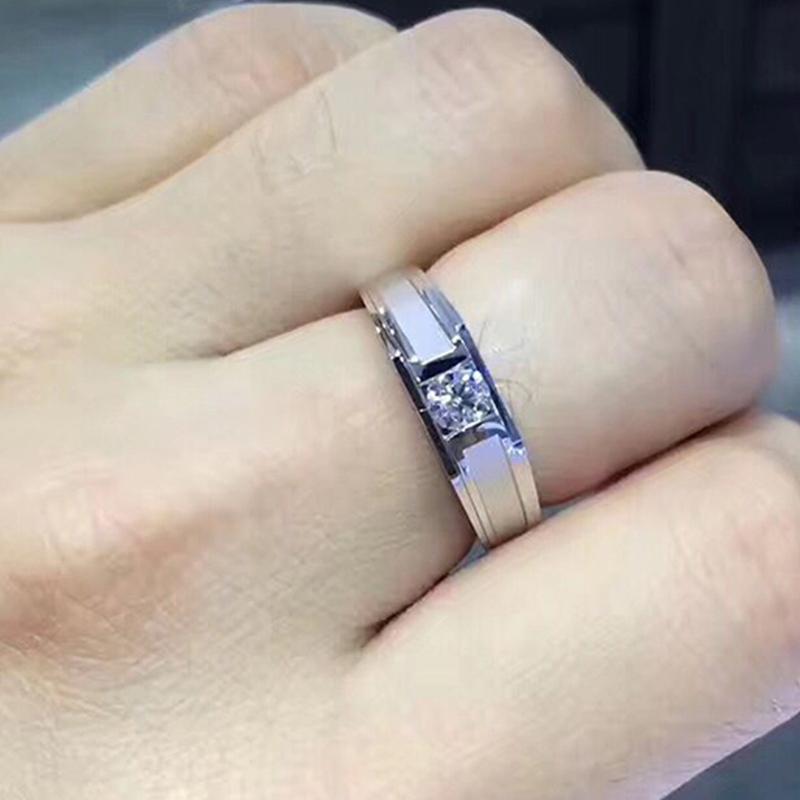 Li Meng Jewelry White 18K Gold 15 mens diamond ring diamond ring for men