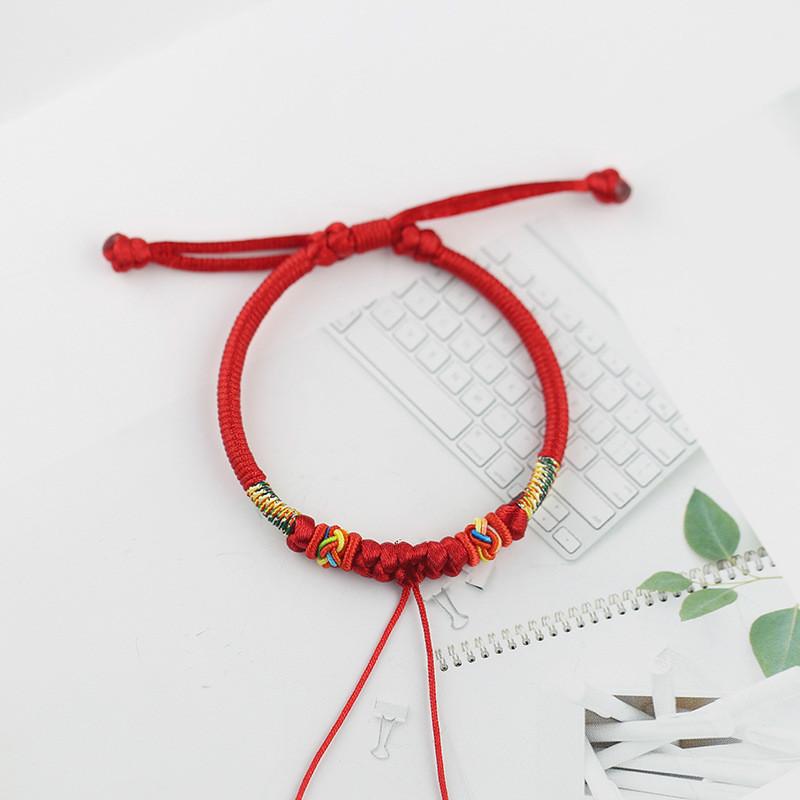 【雅】可串珠半成品手链手绳饰专用配件含绳编吊坠不diy穿红绳手