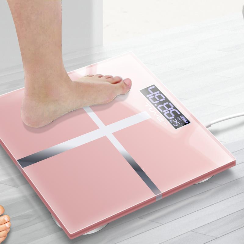 电子称体重秤家用人体秤精准成人称重计器可选USB充电款券后12.00元