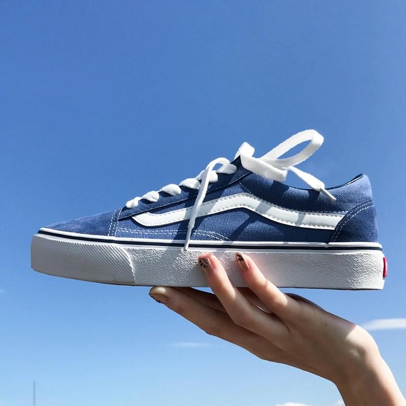 万斯男鞋子潮鞋秋季帆布鞋男低帮学生透气布鞋韩版百搭男士滑板鞋