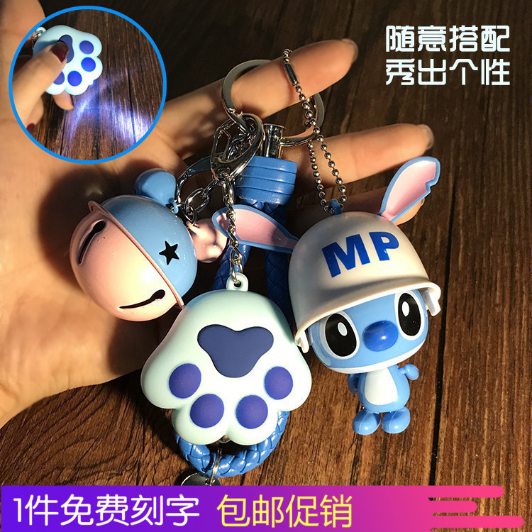 Disney Andys doll key pendant customized Steves bag accessories cat claw bell camera key ring