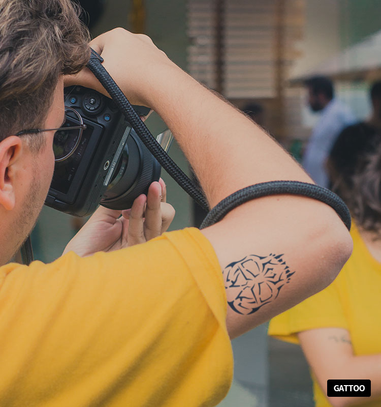 正品保证gattoo方块纹身c0413个性纹身贴