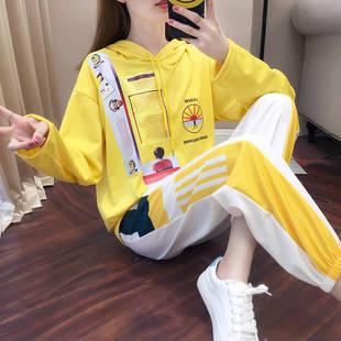 99卫衣女运动套装2019秋冬新款长裤
