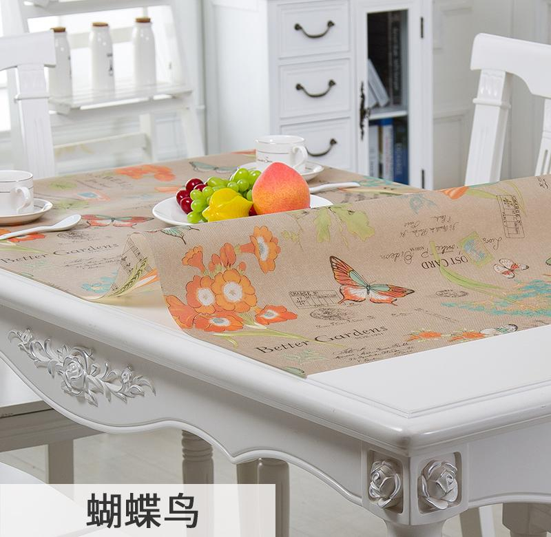 Table mat on the table of soft glass plastic transparent P desk cabinet soft table colored meal