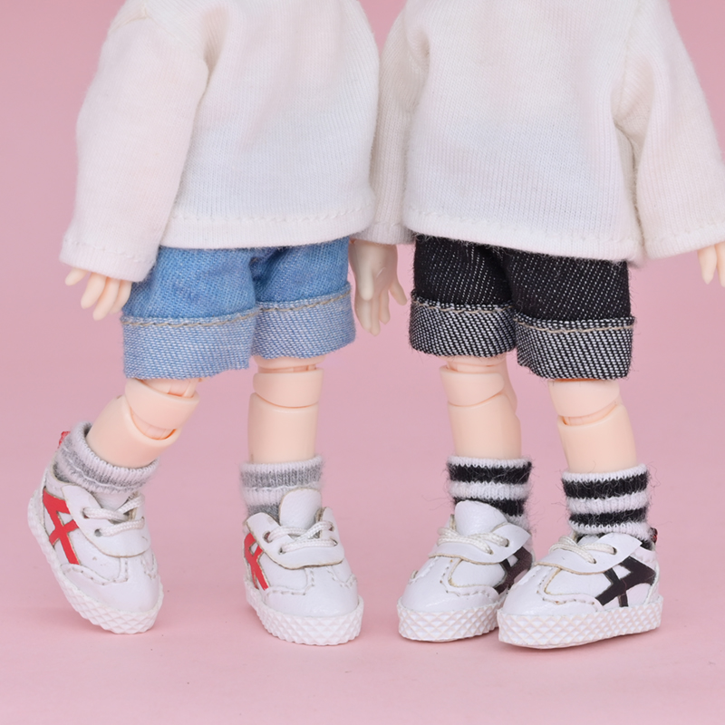 Ob11 baby clothes shoes Meijie pig GSC clay 12 points BJD small cloth girl head sports small white shoes