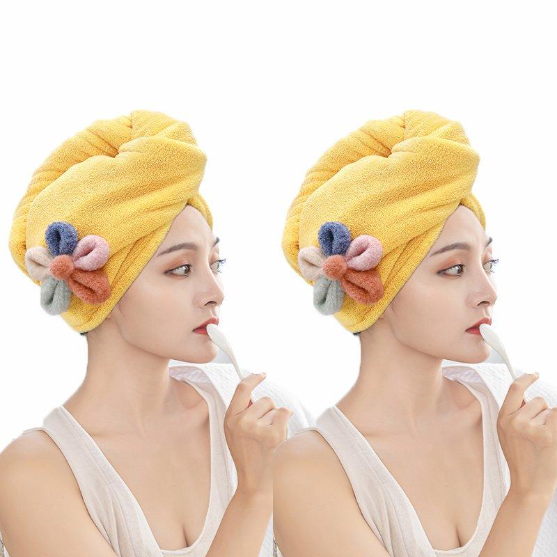 。发儿童女吸水帽巾浴帽发可爱干速毛巾新款202v1包洗头头巾超强