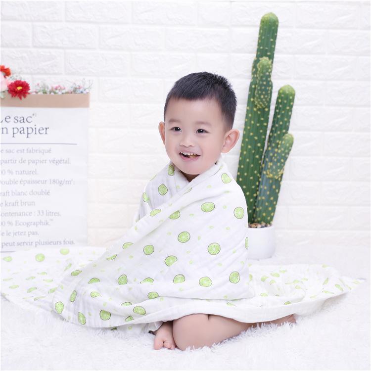 六层高密纱布浴巾 宝宝包巾可定制尺寸母婴用品四季抱被