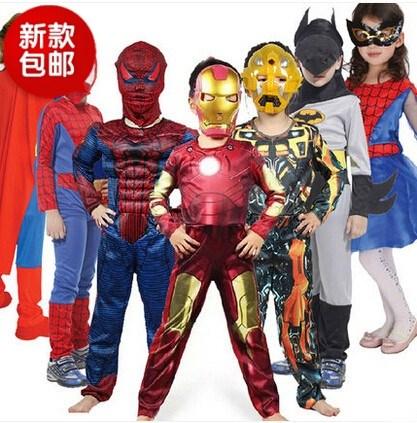 六一圣诞节舞台cosplay动漫表演服大黄蜂蜘蛛侠 钢铁侠服装 包邮