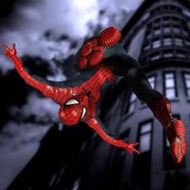 布衣蜘蛛侠可动手办模型摆件玩具英雄远征归来返校季6寸蚂蚁mezco图片