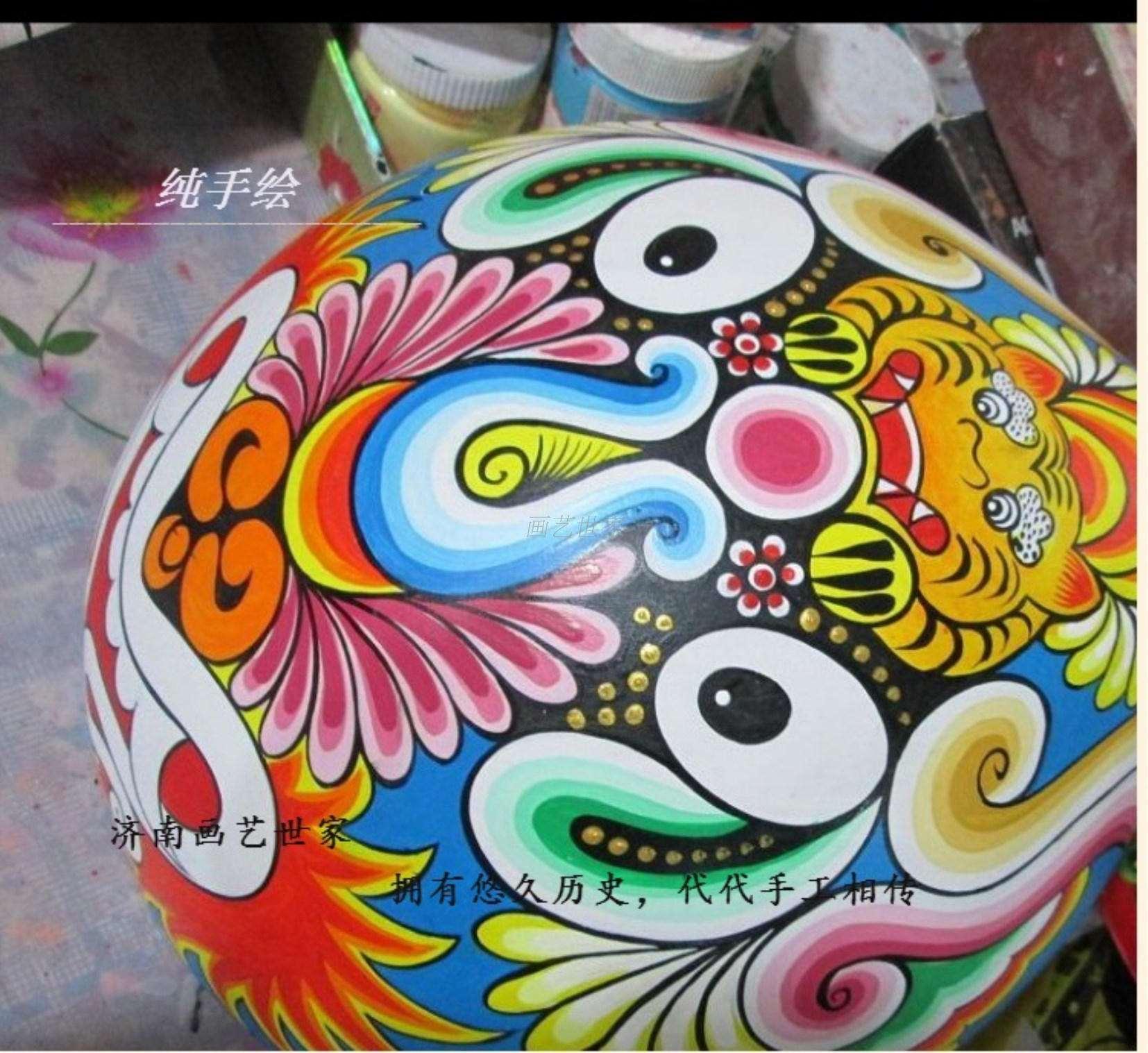 新品手绘纸浆马勺脸谱摆件挂件中国特色手工艺出国送老外小礼品