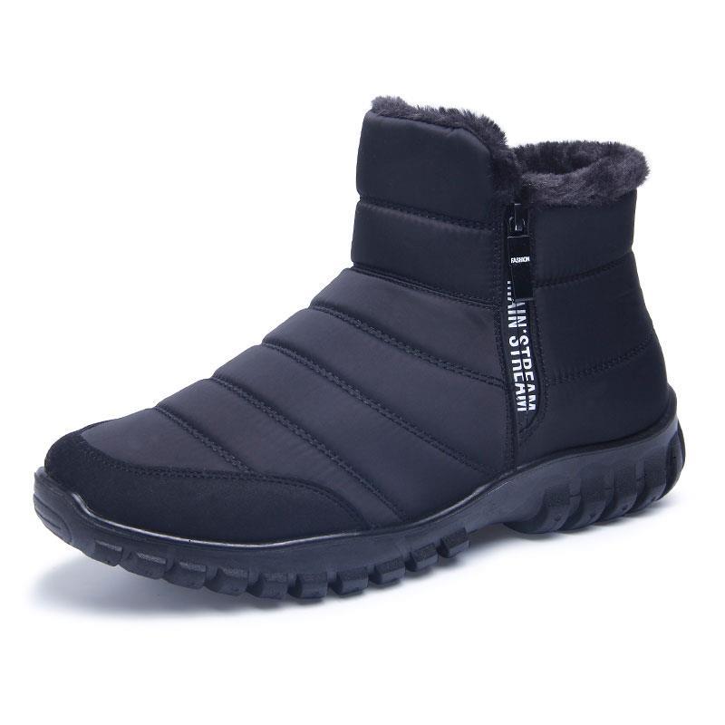 爸爸冬季男鞋防水防滑雪地靴男靴子加绒加厚保暖高帮鞋大棉鞋棉靴